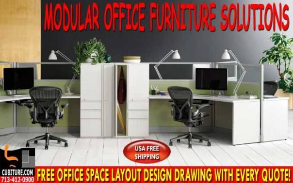 Refurbished Modular Office Furniture For Sale In Dickinson Texas